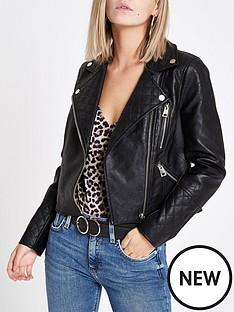 ri-petite-ri-petite-quilted-detail-faux-leather-jacket-black