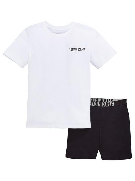 calvin-klein-boys-shorty-pyjama-set-whiteblack
