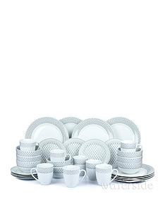 waterside-grey-and-white-droplet-print-32-piece-dinner-set