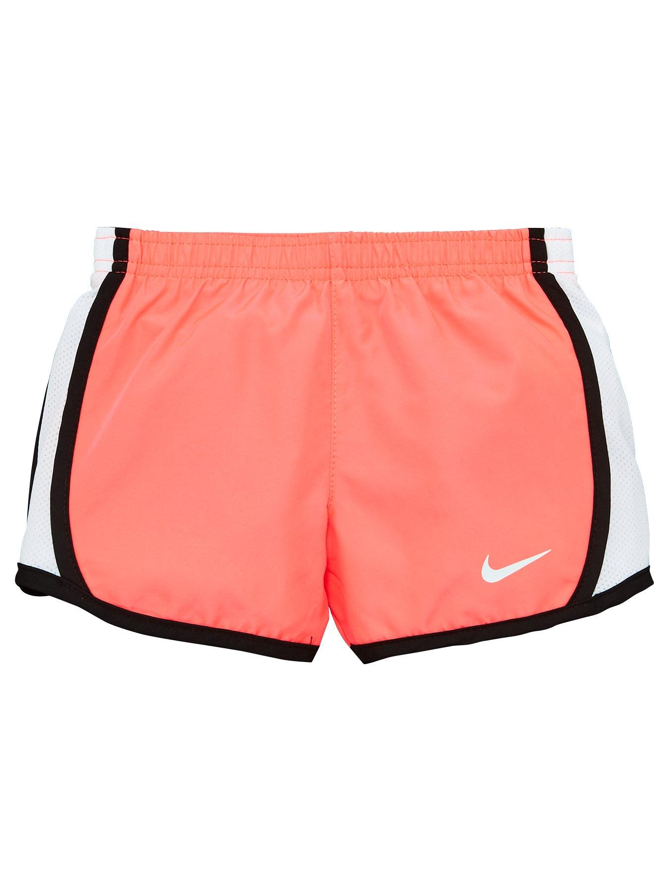 Nike Girls Training Shorts L 14 16 Perforated Gym Grey Racer Pink
