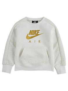 nike-air-childrens-nsw-fleece-crew-neck-top-off-white