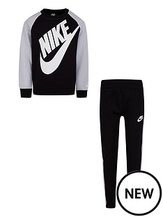 nike-childrens-2-piece-oversized-futura-crew-top-and-pull-ons-blackgrey