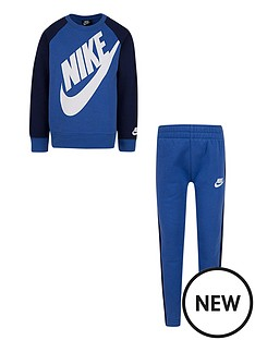 nike-childrens-2-piece-oversized-futura-crew-top-and-pull-ons-bluenavybr-nbsp