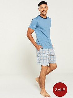 v-by-very-blue-t-shirtnbspand-check-bottoms-pyjama-set-blue