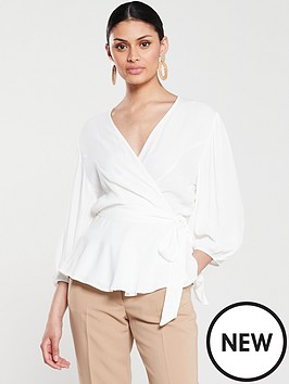 v-by-very-wrap-blouse-whitenbsp