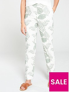 v-by-very-tapered-leg-trouser-palm-print