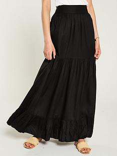 v-by-very-tiered-maxi-skirt-black