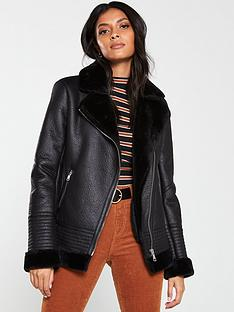 v-by-very-faux-shearling-aviator-jacket-black