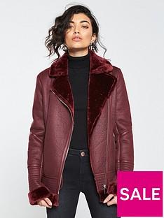v-by-very-faux-shearling-aviator-jacket-burgundy