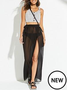 v-by-very-chiffon-tie-side-beach-maxi-skirt-black