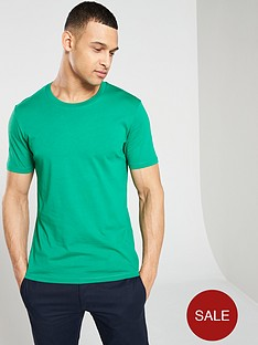 a5784932f6 Selected Homme Perfect Short Sleeved Open Neck T-Shirt - Green