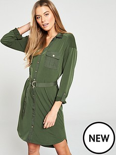 oasis-utility-crepe-shirt-dress-khaki
