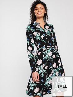 oasis-petunia-floral-longer-length-skater-shirt-dressnbsp--black