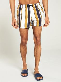 river-island-joey-gold-stripe-swim-shorts