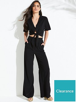v-by-very-cropped-co-ordnbspbeach-shirt-black