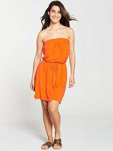 v-by-very-bandeau-jersey-beach-dress-orange