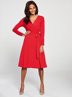 wallis-wrap-midi-dress-red