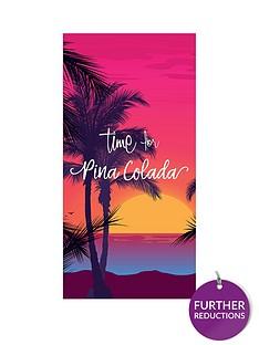 deyongs-time-for-pina-colada-beach-towel