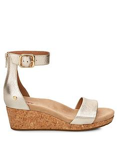 020b6366540 UGG Zoe II Metallic Wedges - Gold