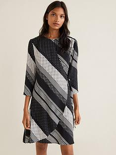 mango-mixed-spot-wrap-dress