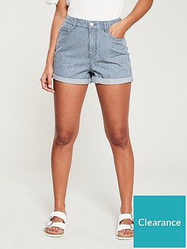 v-by-very-mid-rise-mom-shorts-pinstripe