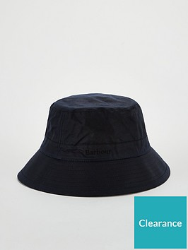 barbour-wax-bucket-hat-navy