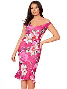 sistaglam-loves-jessica-scuba-bardot-bodycon-midi-dress-floral-print