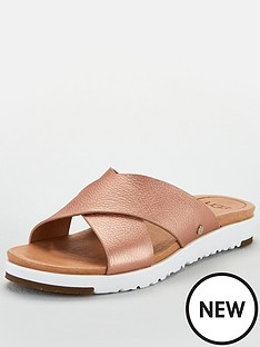 ugg-kari-metallic-cross-sandals-rose-gold