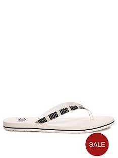 ugg-simi-graphic-flip-flops-white
