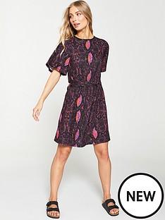 46f789f55 V by Very Angel Sleeve Tea Dress - Snake Print