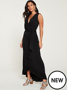 v-by-very-sleeveless-wrap-front-maxi-dress-black