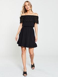 v-by-very-scallop-lace-jerseynbspbardot-dress-black