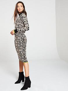 river-island-snake-print-knit-midi-dress