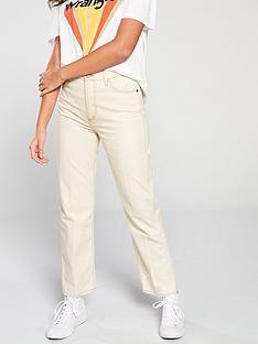 wrangler-retro-straight-jeans-off-white