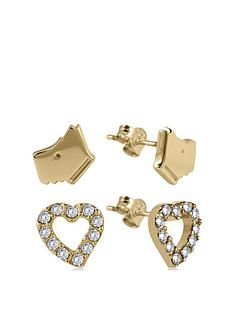 radley-18k-gold-plated-sterling-silver-dog-and-crystal-set-heart-ladies-earrings-set
