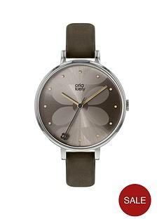 orla-kiely-grey-sunray-stem-detail-dial-grey-leather-slim-strap-ladies-watch