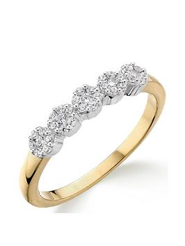 love-diamond-9ct-gold-20-point-diamond-5-stone-eternity-ring