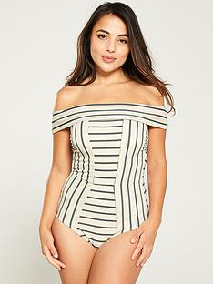 v-by-very-bardot-shapewear-multi-stripe-swimsuit-monochrome