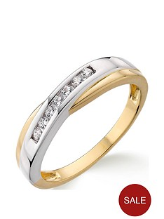 love-diamond-9ct-two-tone-gold-12-point-diamond-crossover-ring