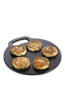 kitchencraft-round-cast-iron-baking-stonecooking-griddle