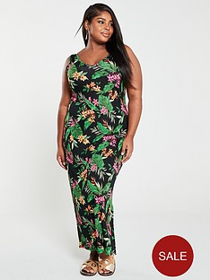 v-by-very-curve-split-jersey-maxi-dress-tropical-print