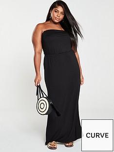 v-by-very-curve-jersey-bandeau-maxi-dress-black