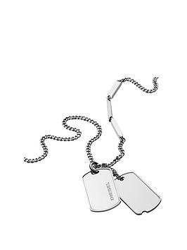 diesel-diesel-stainless-steel-double-dogtag-mens-neckwear