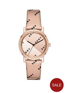 dkny-dkny-soho-rose-gold-and-black-logo-mirror-dial-liquid-gel-rose-gold-strap-ladies-watch