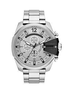 diesel-diesel-mega-chief-silver-and-black-detail-chronograph-dial-stainless-steel-bracelet-mens-watch