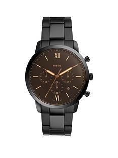 fossil-fossil-neutro-black-satin-chronograph-black-stainless-steel-bracelet-mens-watch
