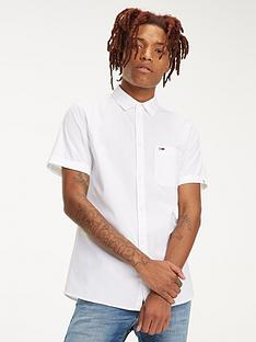 tommy-jeans-short-sleeved-pure-cotton-shirt-white