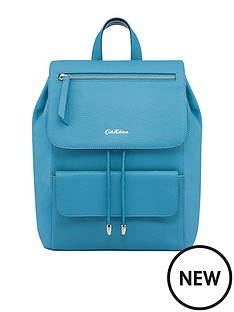 cath-kidston-cath-kidston-barton-solid-cornflower-leather-backpack