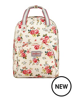 cath-kidston-cath-kidston-field-rose-warm-stone-multi-pocket-backpack
