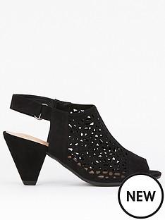evans-evans-extra-wide-fit-lazer-cut-cone-heel-shoe